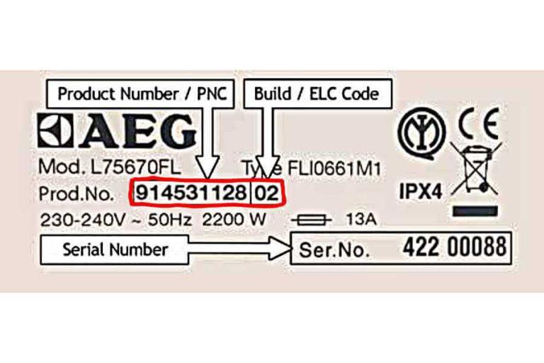 Ako zistím - AEG PNC číslo