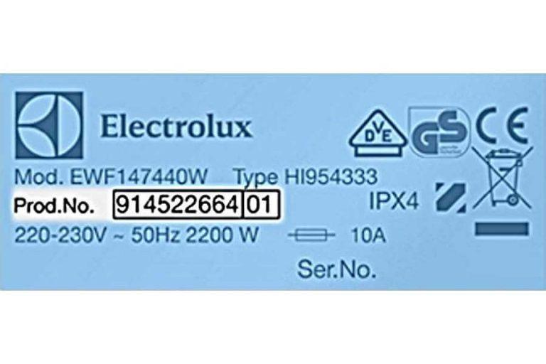 Ako zistím - Electrolux PNC číslo